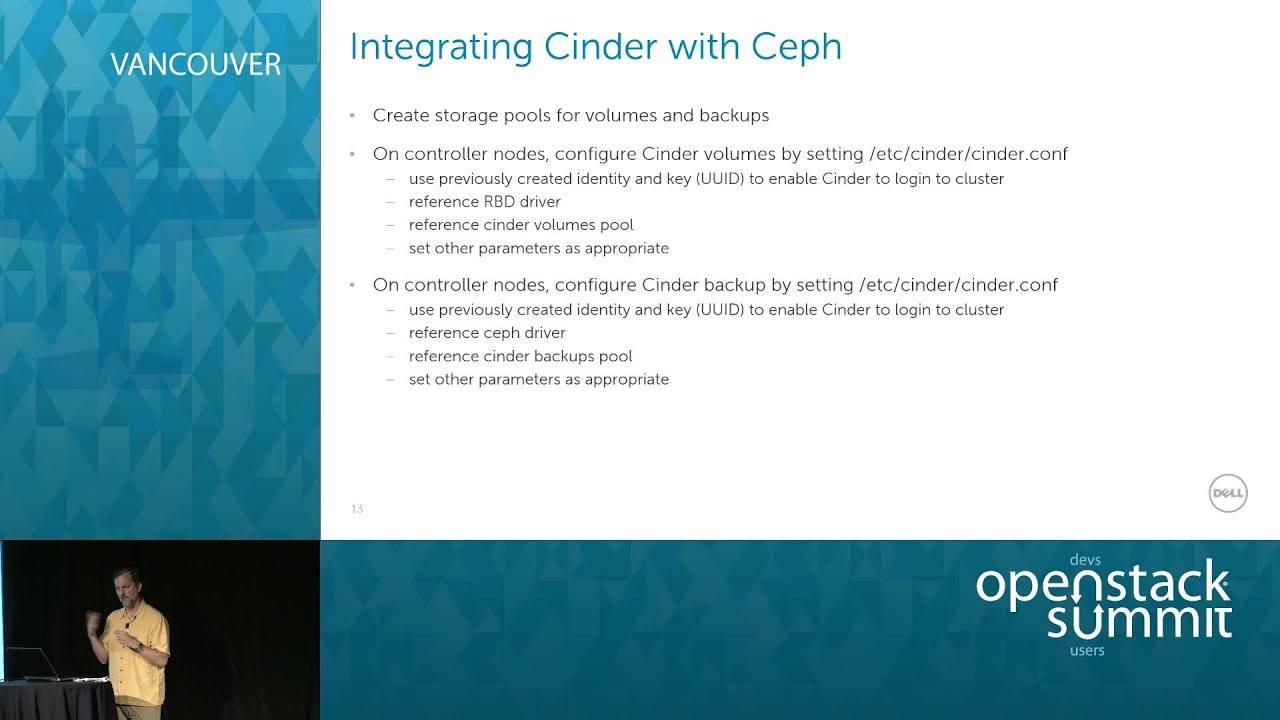 Setting up a highly available storage cluster for Cinder and Glance using  Ceph