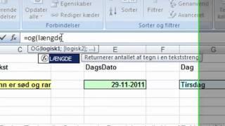 Excel opgave avanceret