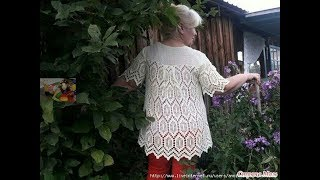 блуза крючком,кофта крючком,пуловер крючком,туника крючком,майка крючком, 4 часть