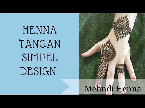 Henna Tangan Simple Pergelangan Tangan