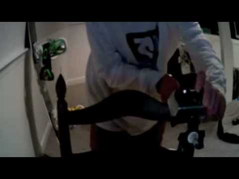 How to attach a GoPro handle bar mount to a ski pole