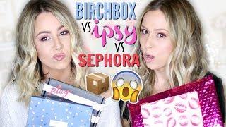 Unboxing: BIRCHBOX vs IPSY vs SEPHORA | February 2019