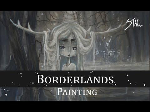 The Borderlands And Otherworld Folklore Ghost Deer Painting