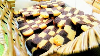 chessboard butter cookies /malayalam recipe step by step/detailed video for checkerboard cookies