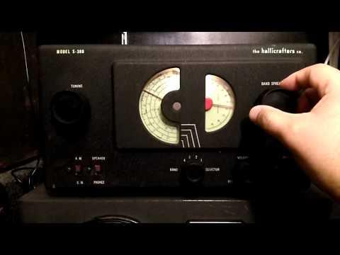 Hallicrafters Model S-38 B - Vintage shortwave tube radio demostration
