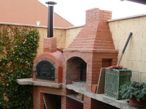 Construcci n horno de le a 2 youtube for Parrilla para una casa