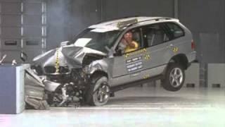 2001 BMW X5 moderate overlap IIHS crash test