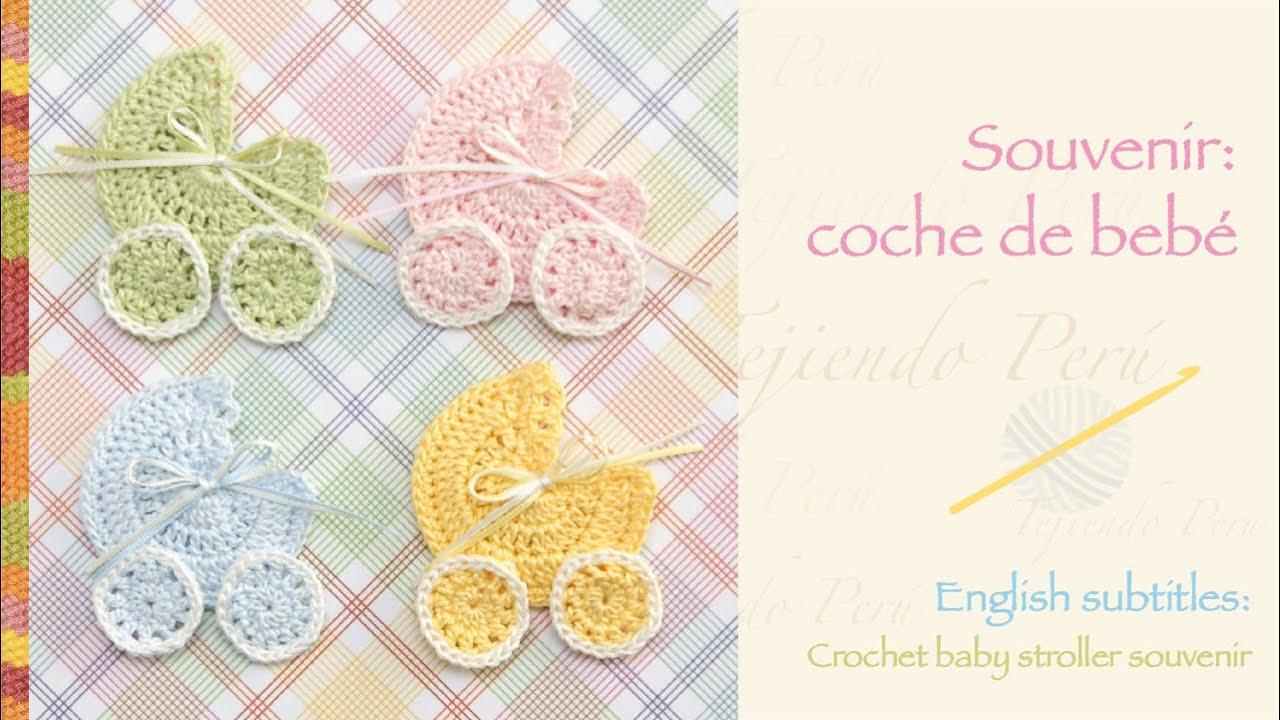 Souvenir coche para beb tejido a crochet crochet baby for Coches para bebes