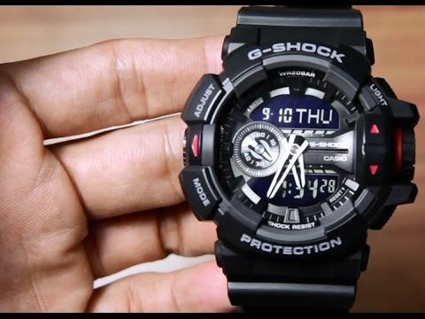 a2662988e91 Casio G-shock GA-400-1B - YouTube