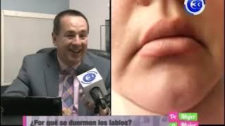Después labiales anormal rellenos hinchazón de