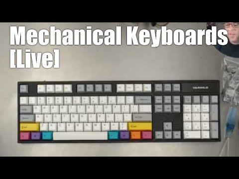[Livestream] Mechanical Keyboards Live! - 2 unboxing reviews and a custom controller