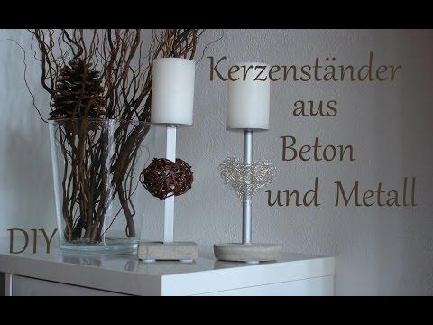 diy kerzenst nder aus beton und metall muttertagsgeschenk just deko. Black Bedroom Furniture Sets. Home Design Ideas