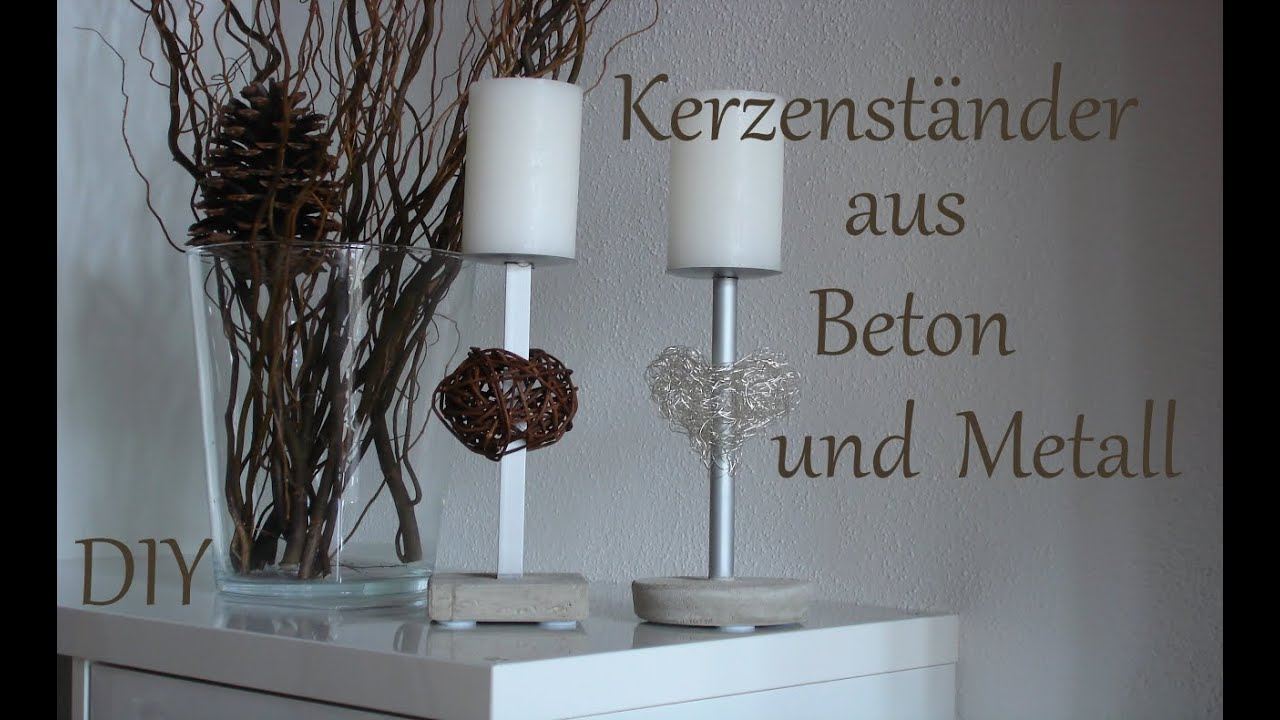 diy kerzenst nder aus beton und metall. Black Bedroom Furniture Sets. Home Design Ideas