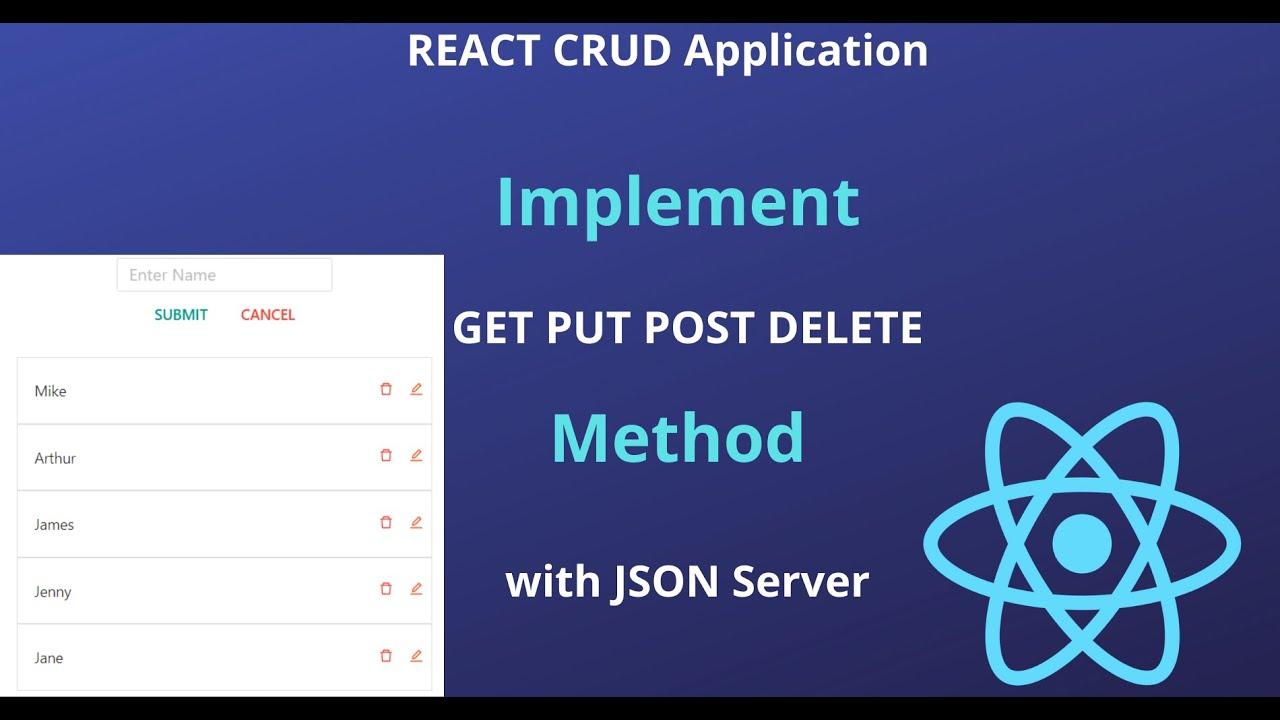 Build React CRUD App with JSON SERVER