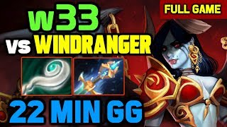 he picked Windranger vs w33 - w33 Knows HOW TO COUNTER his signature hero in mid