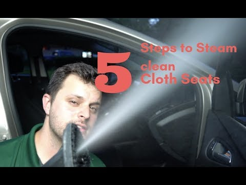 How to Steam Clean Cloth Seats in 5 Steps