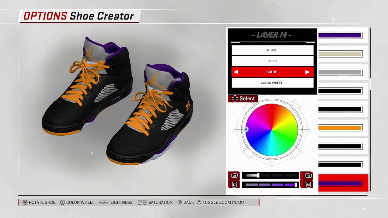 NBA 2K18 Shoe Creator - Air Jordan 5 PE