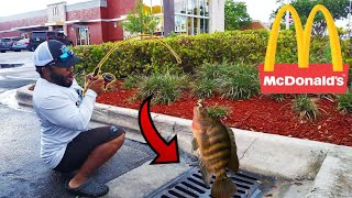 SEWER FISHING in McDONALDS!