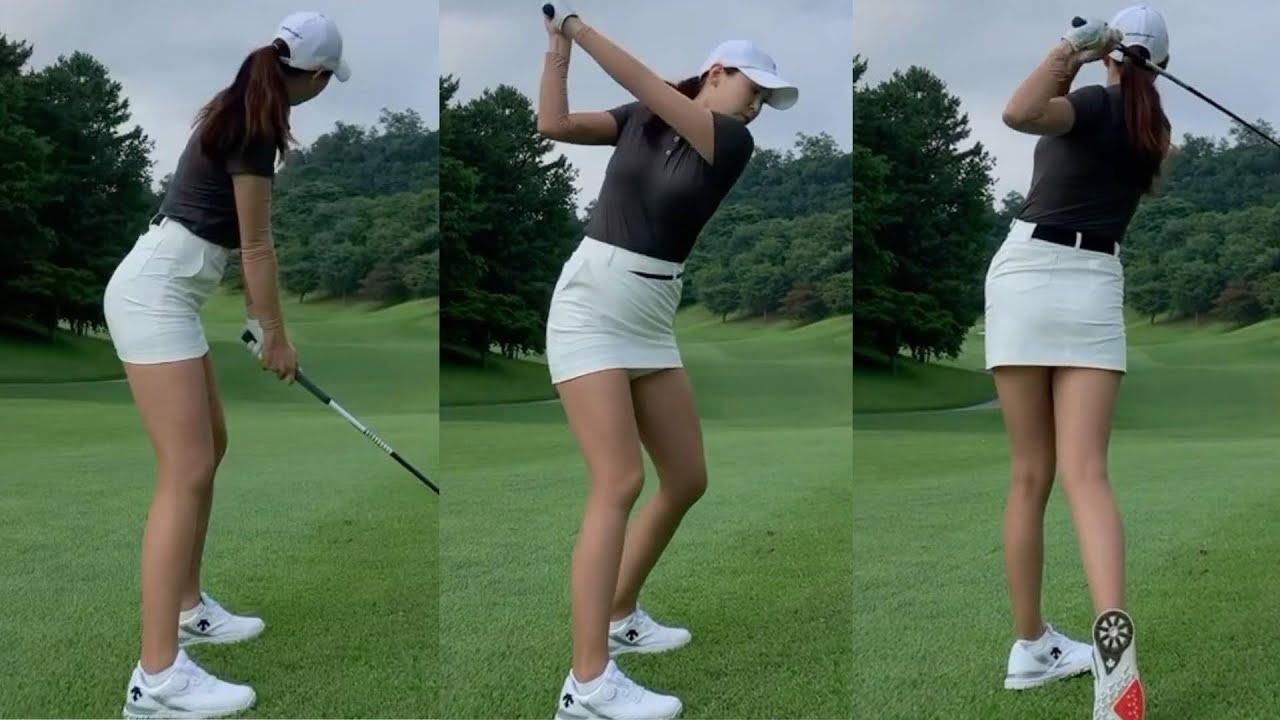 강다나 프로 👍골프스윙 (골프여왕 골프스윙- golf swing golf queen) KLPGA