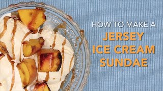 How to make a grilled peach ice cream sundae