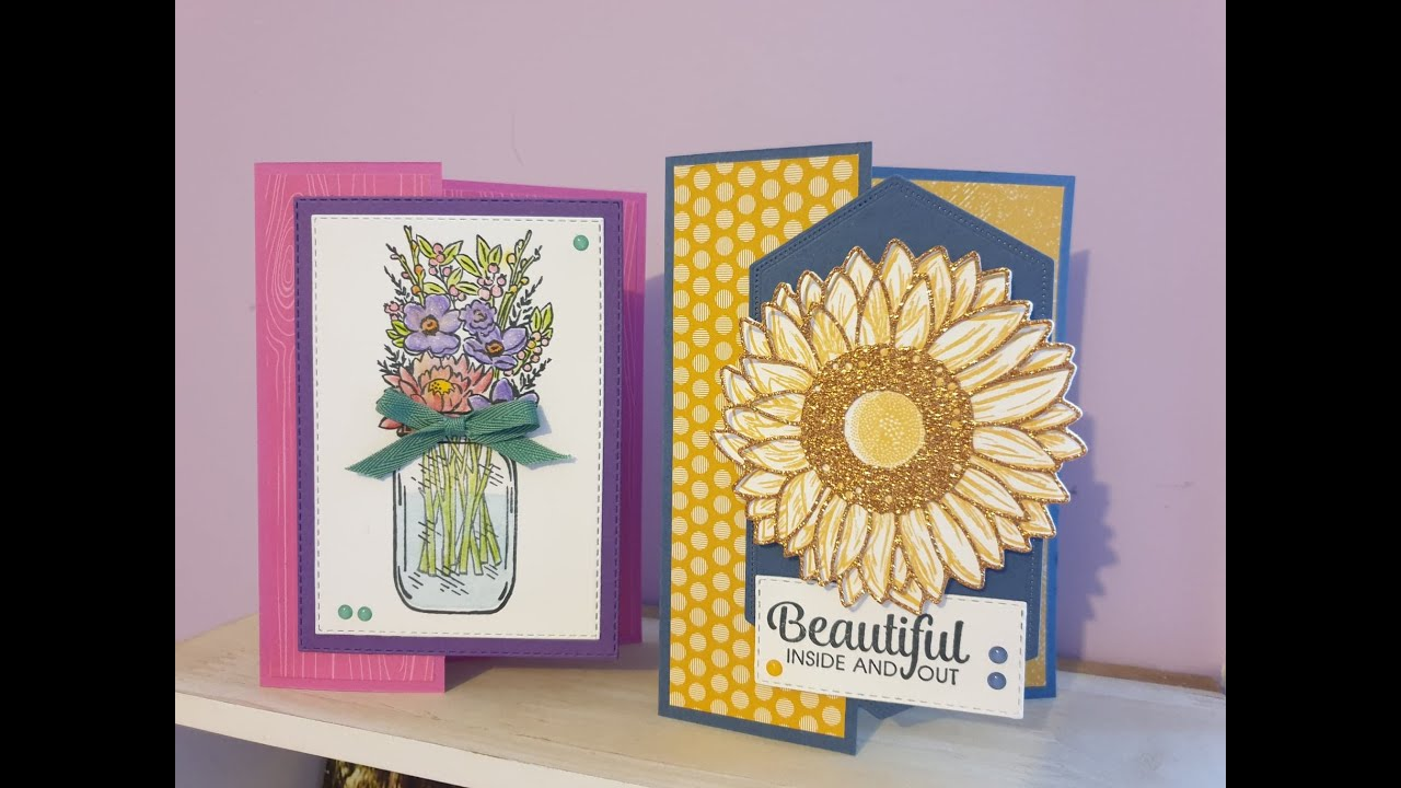 fun fold cards  flowers for every season suite  youtube