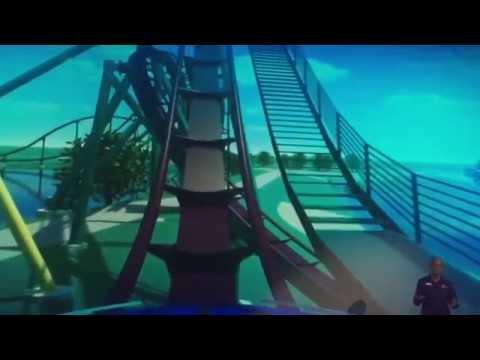 Narrated POV of Mako hyper coaster at SeaWorld