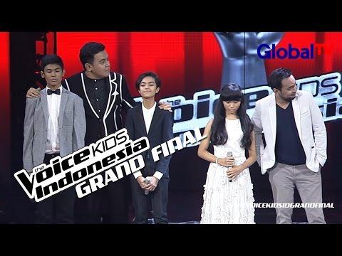 Pengumuman Juara | 3 Besar Grand Final | The Voice Kids Indonesia GlobalTV 2016