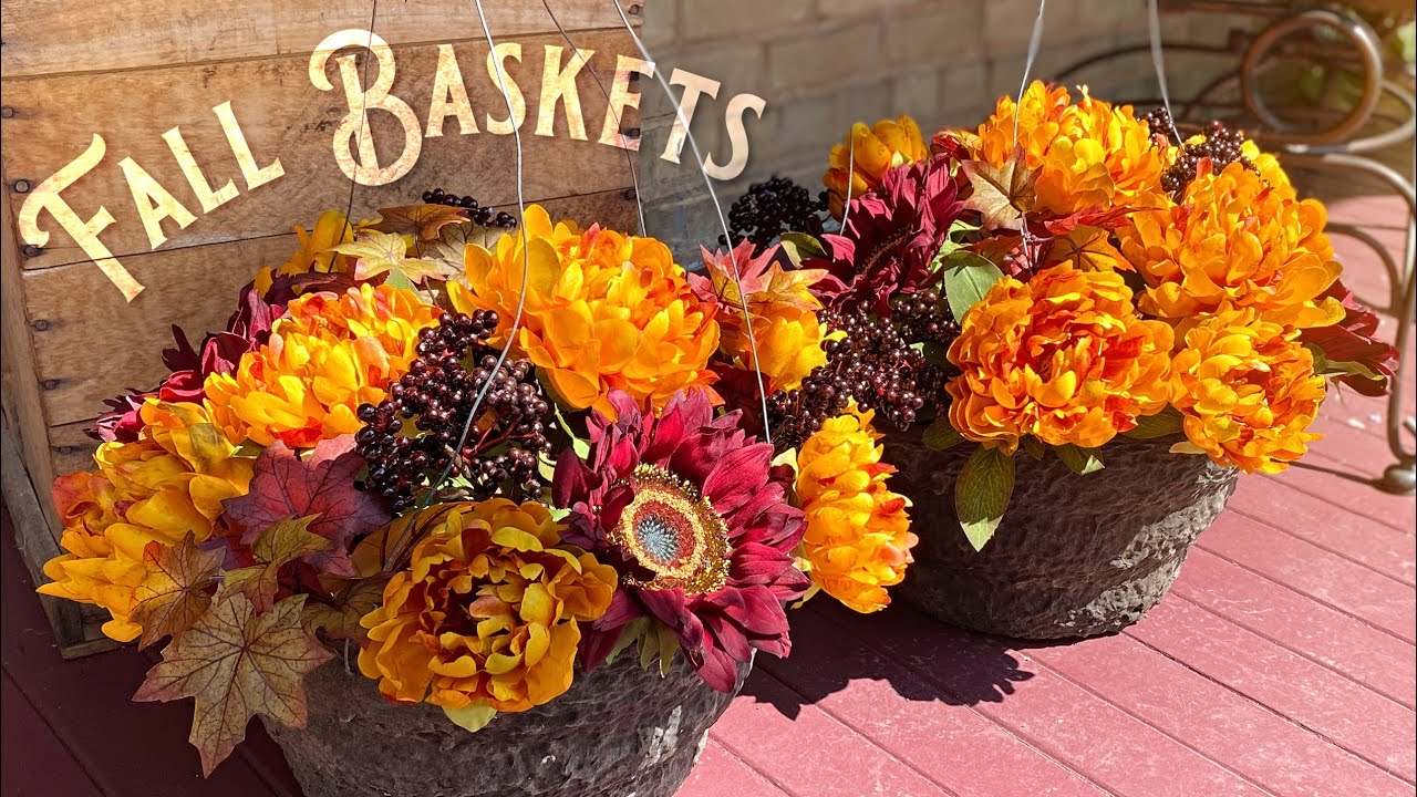 Easy Fall Hanging Baskets Fall Decorating Fall Porch Ideas Youtube