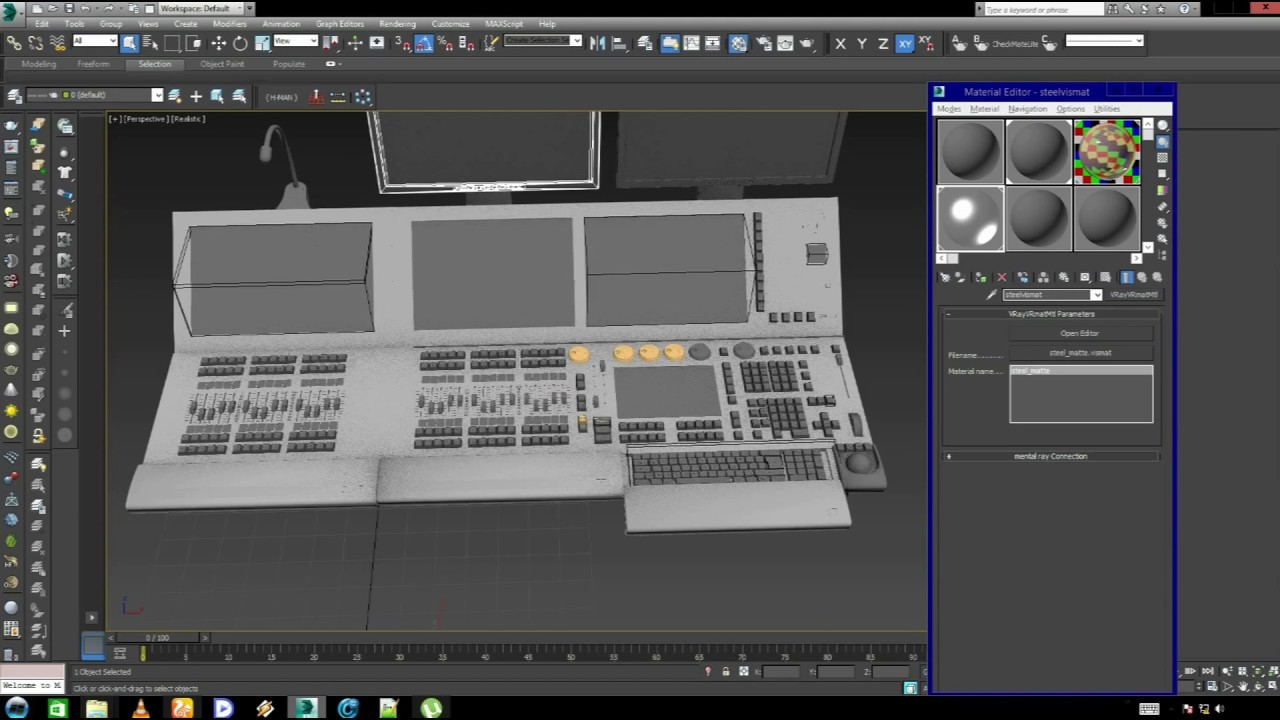 how to put material in 3ds max
