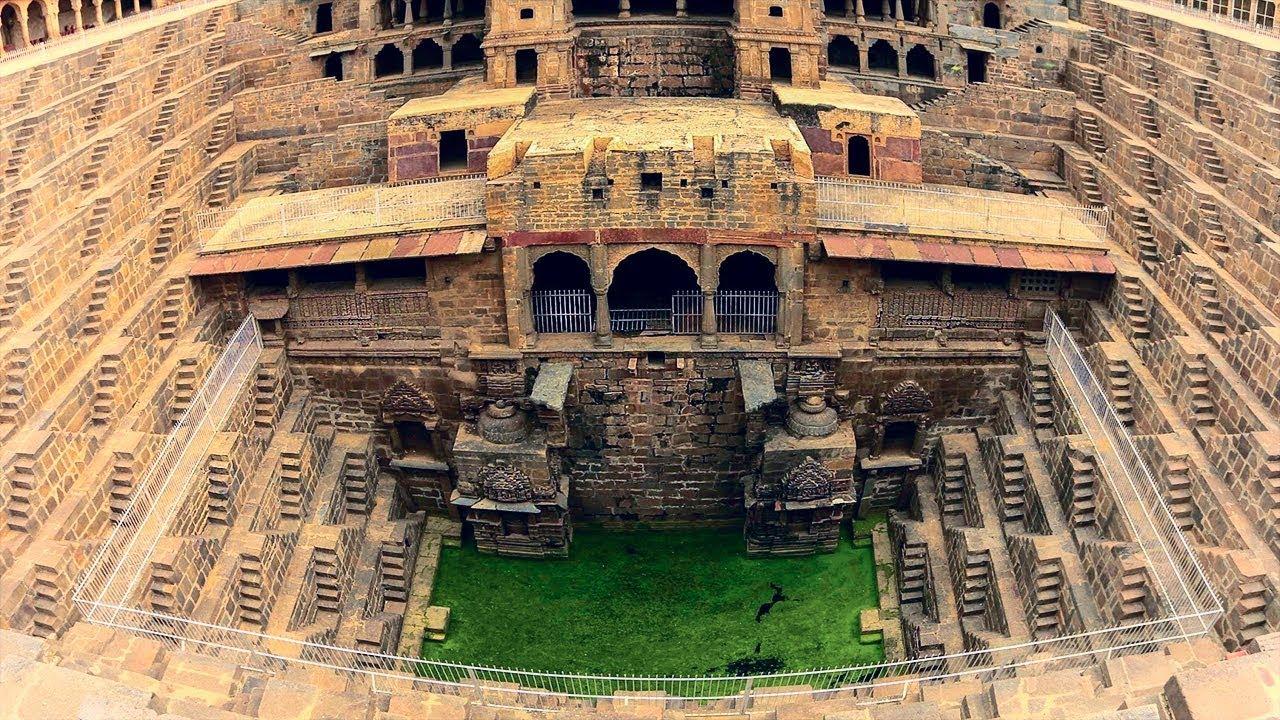 Самый большой ступенчатый колодец - Удивительное чудо Индийской архитектуры!