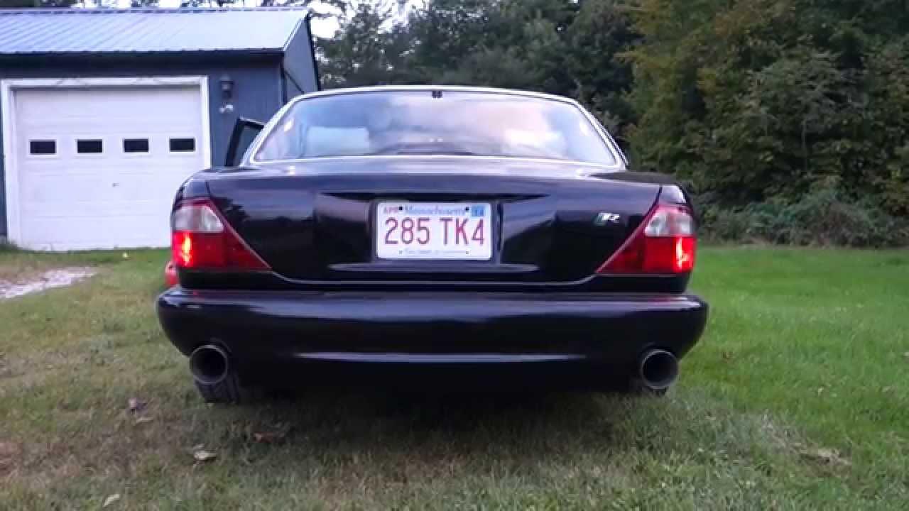 1998 Jaguar XJR w/ Custom Magnaflow 10415 catback exhaust and X-Pipe