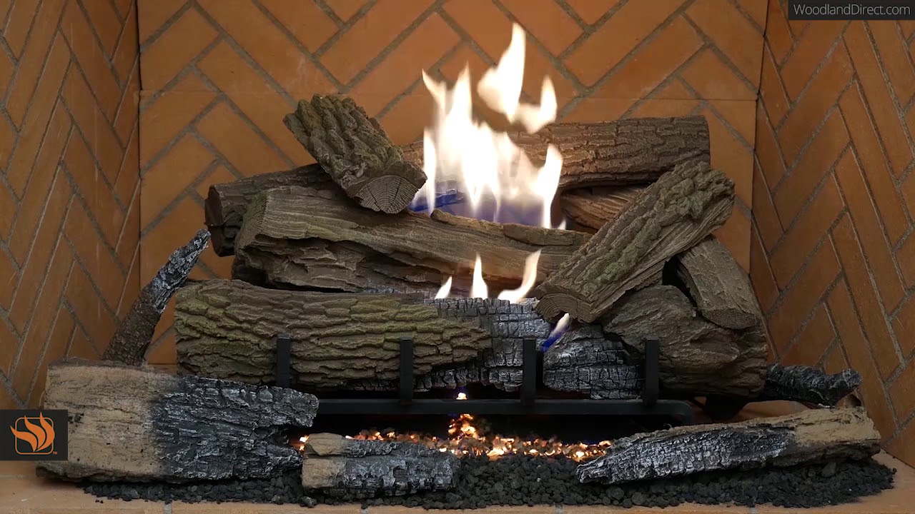Mossy Oak Outdoor Ventless Gas Log Set