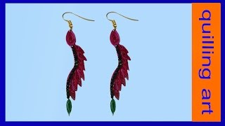 quilled earrings latest designs