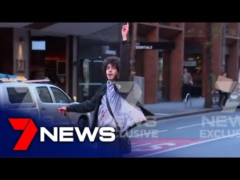 Man who was carrying a knife arrested in Wynyard, Sydney's CBD | 7NEWS