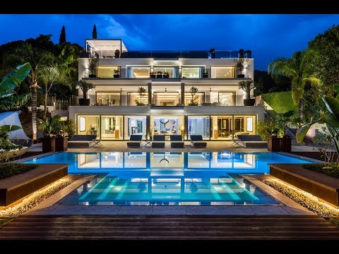Contemporary Mansion For Sale Marbella Golden Mile Spain