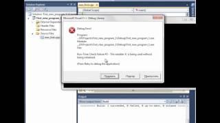 Видео урок С++, создание консольного приложения.wmv