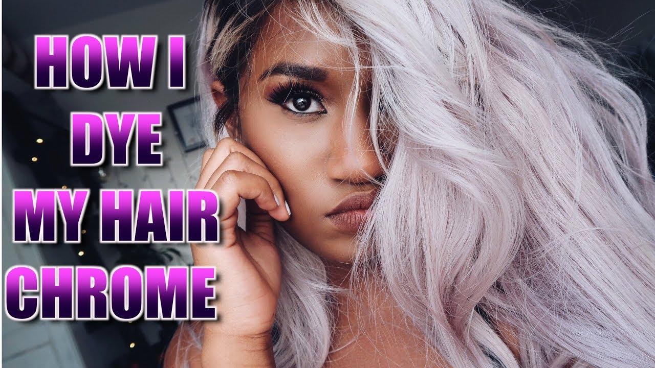 dye hair chrome holographic