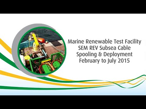 Marine renewable subsea cable deployment