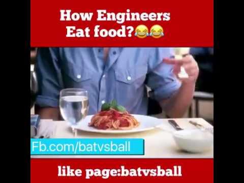 How engineers eat food