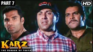Karz Hindi Movie | Part 7 | Sunny Deol, Sunil Shetty, Shilpa Shetty, Ashutosh Rana | Action Movies