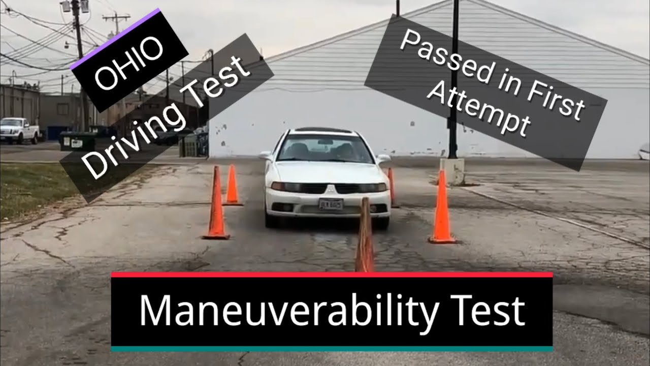 how to set up driving test cones