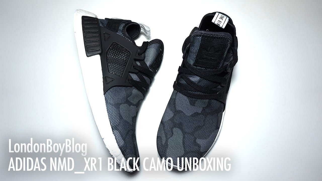 89cf5f188 Adidas NMD XR1 Camo Black Unboxing - YouTube