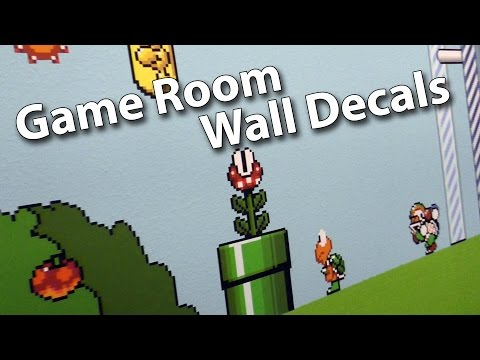 Adding Game Room Wall Decals - Super Mario World Theme
