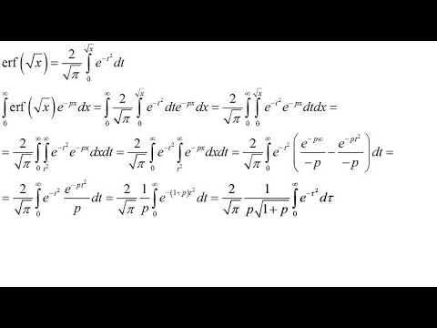 Вопрос: Как применить преобразование Лапласа к какой либо функции?