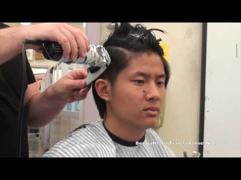 Men's Haircut Clipper freehand Class: Straight hair: very good!