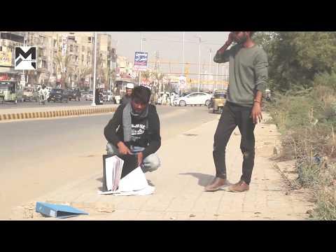 A Man Insults A Street Salesman