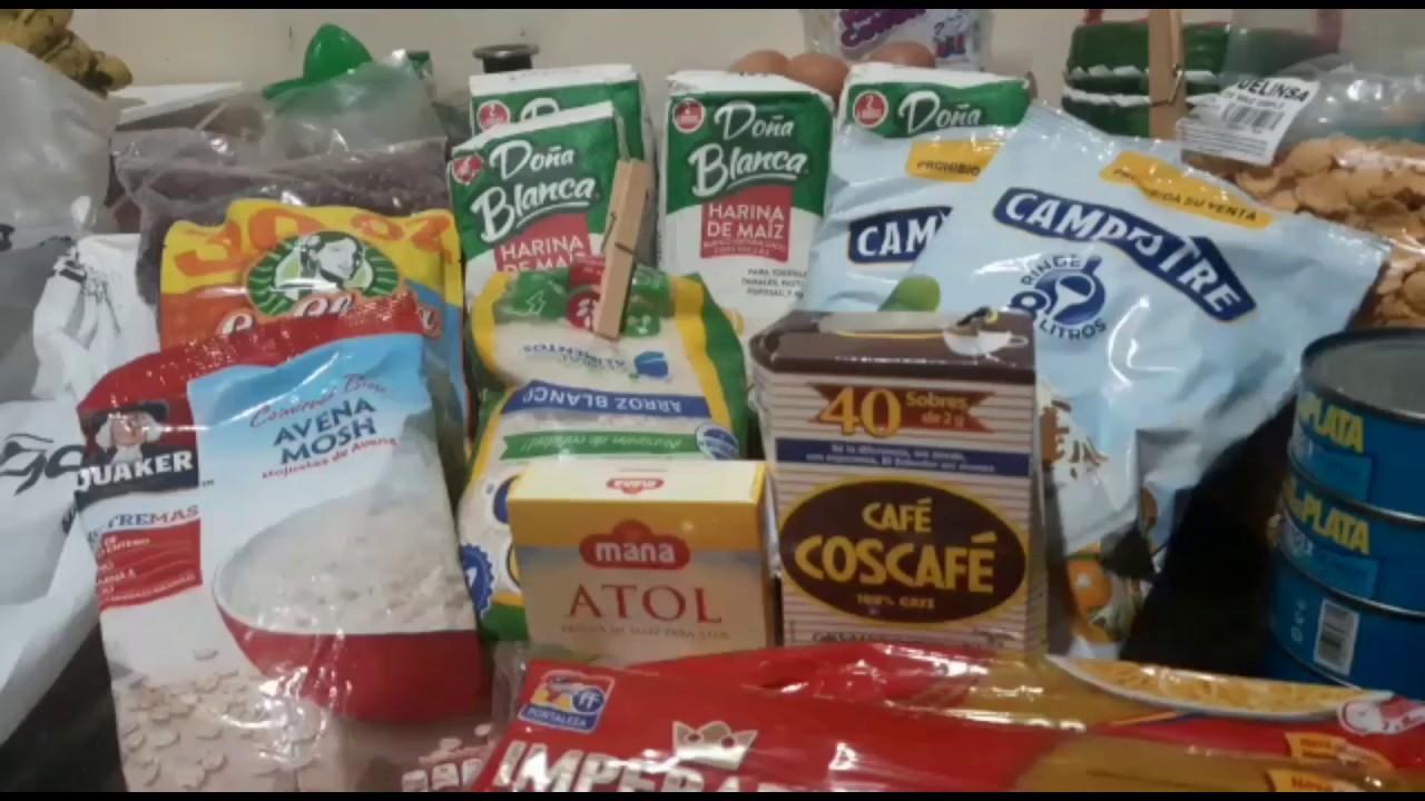 Así es la canasta básica alimenticia que está dando casa por casa el gobierno de El Salvadoe🇸🇻