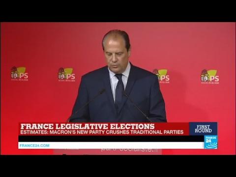 """France Legislative Election: Socialist party Leader addresses voters on """"Tremendous Defeat"""""""