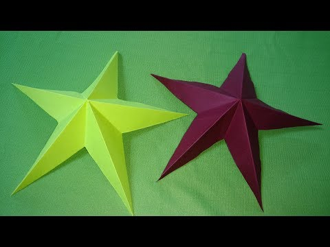 Making a Star using Paper | How Make Simple Star Paper Crafts