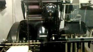 Mulinello macchina da stampa tipografica.mp4